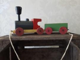 Vintage houten trein met wagon