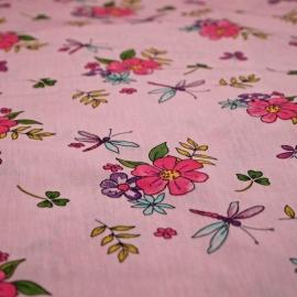 Dekbedovertrek roze bloemetjes