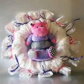 Luierkrans roze / paars
