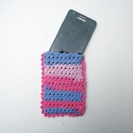 Telefoonhoesje roze en lila