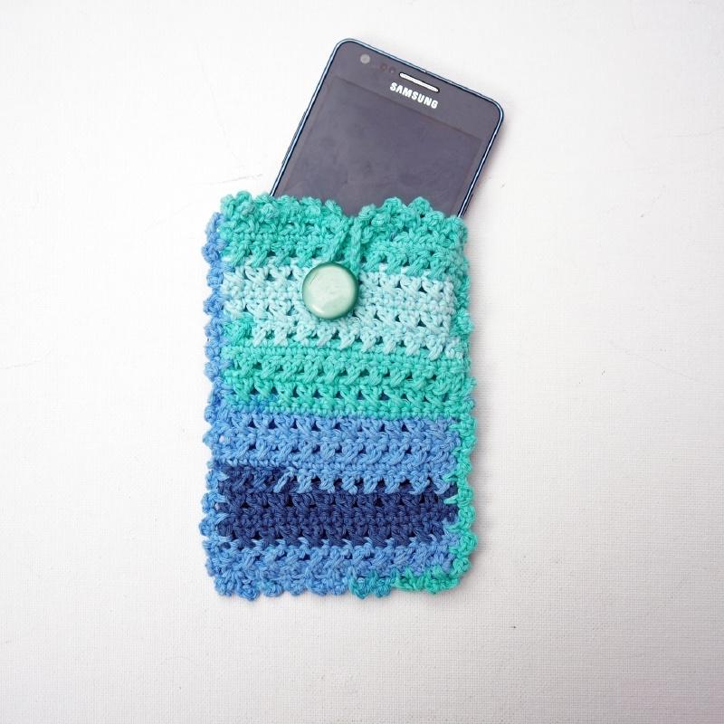 Telefoonhoesje zeeblauw