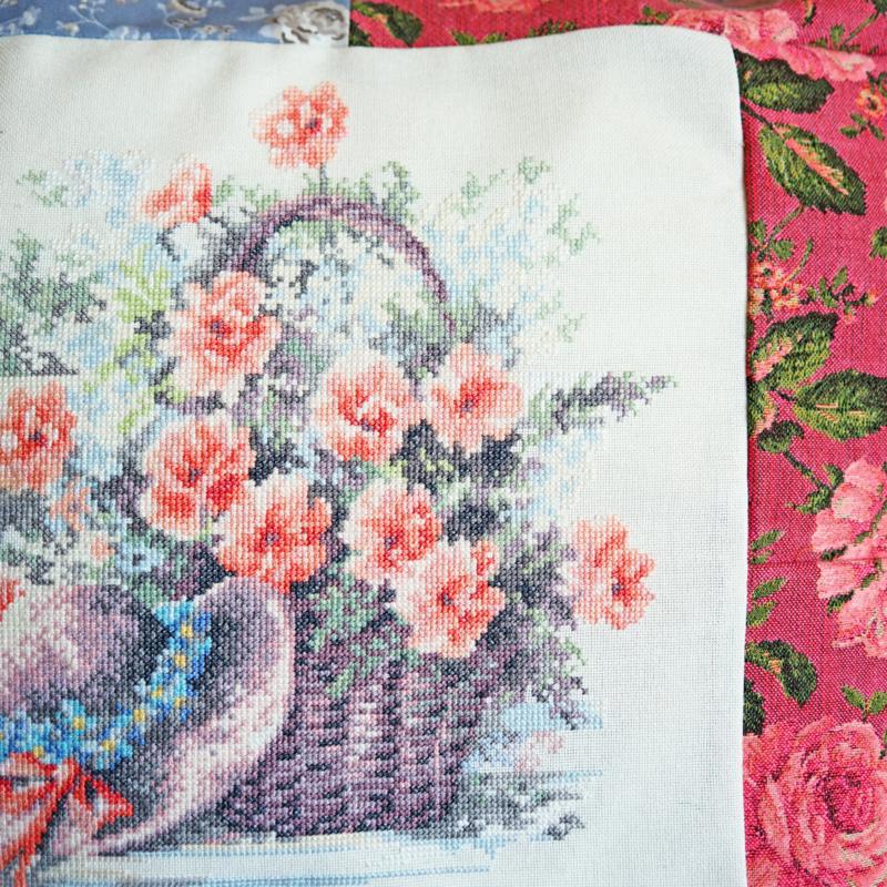 Kussenhoes mand met bloemen
