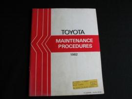 Onderhoudsboek Toyota (1982)