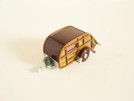 Caravan rood/ bruin
