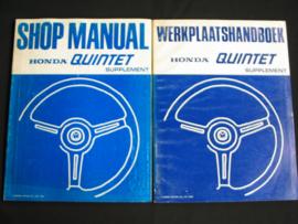 Werkplaatshandboek Honda Quintet Supplement (1982)