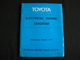 Werkplaatshandboek Toyota elektrische schema`s bedrijfswagens (1979)