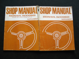 Workshop manual Honda Accord (1979 and 1980) Supplement