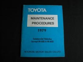 Onderhoudsboek Toyota bedrijfswagens (1979)