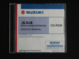 Werkplaats CD Suzuki SX4 (RW415, RW416 en RW420) (februari 2007)