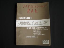 Werkplaatshandboek Suzuki Grand Vitara XL-7 (SQ416, SQ420, SQ625, JA627 en JA420WD) versnellingsbak