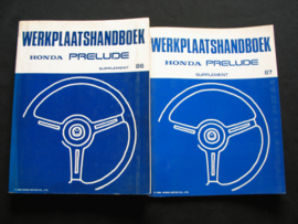 Werkplaatshandboek Honda Prelude Supplement (1986 -1987)