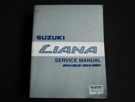 Werkplaatshandboek Suzuki Liana (RH413 en RH416) (maart 2001)