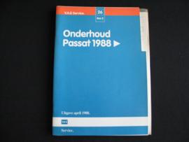 Werkplaatshandboek Volkswagen Passat (1988) onderhoud