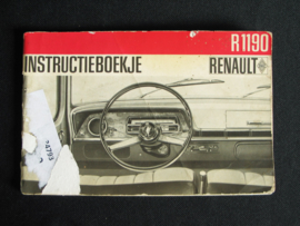 Instructieboek Renault 1190 (1966)