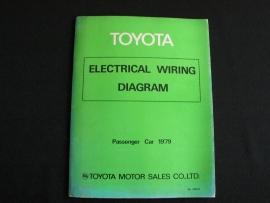 Werkplaatshandboek Toyota elektrische schema`s personenauto`s (1979)