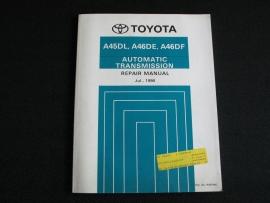 Werkplaatshandboek Toyota automatische transmissie A45DL, A46DE en A46DF