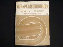 Workshop manual Honda Civic (1988) Construction and Function