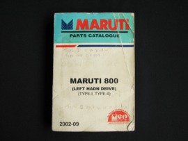 Onderdelenboek Maruti/ Suzuki 800