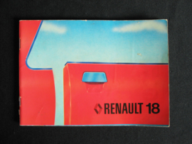 Instructieboek Renault 18
