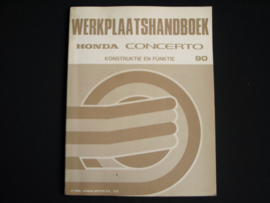 Workshop manual Honda Concerto Construction and Function (1990)