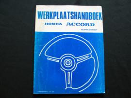 Werkplaatshandboek Honda Accord (1984) supplement