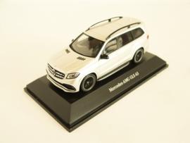 Mercedes Benz GLS 63 AMG zilverkleurig