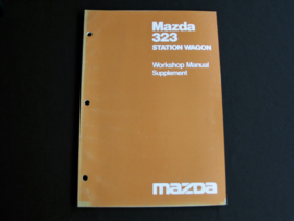 Werkplaatshandboek supplement Mazda 323 SW