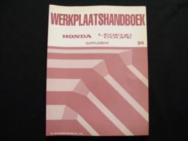 Werkplaatshandboek Honda Legend Coupé (1994) Supplement