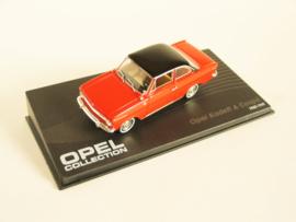 Opel Kadett A Coupé rood/ zwart