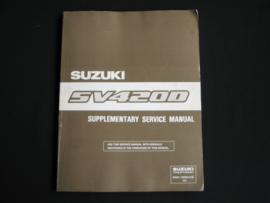 Werkplaatshandboek Suzuki Vitara (SV420D) supplement