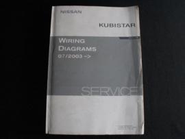 Werkplaatshandboek Nissan Kubistar (X76) (07/2003) elektrische schema's