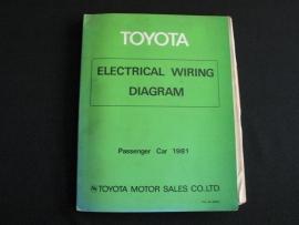 Werkplaatshandboek Toyota elektrische schema`s personenauto`s (1981)