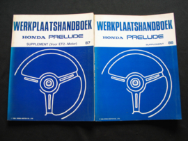 Werkplaatshandboek Honda Prelude (1986 en 1987) Supplement