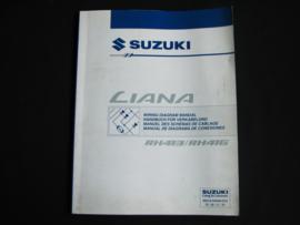 Werkplaatshandboek Suzuki Liana (RH413 en RH416) elektrische schema's (juni 2001)