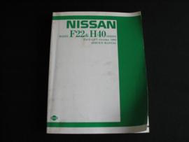 Werkplaatshandboek Nissan Cabstar Facelift (F22 & H40) (1986)