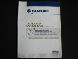 Werkplaatshandboek Suzuki Grand Vitara (SQ420VD en SQ420WD) elektrische schema's