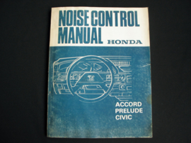 Workshop manual Honda Accord, Prelude and Civic (1985) Noise Control
