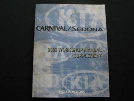 Werkplaatshandboek Kia Carnival/ Kia Sedona (2003) (Supplement)