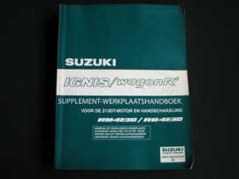 Werkplaatshandboek Suzuki Ignis/ WagonR+ (RM413D en RB413D) supplement