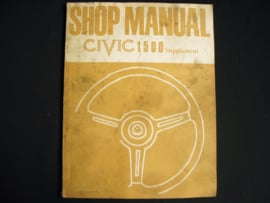 Workshop manual Honda Civic 1500 Supplement (1975)
