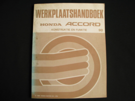 Workshop manual Honda Accord (1990) Construction and Function