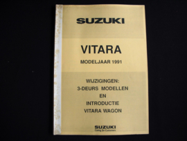 Introductieboek Suzuki Vitara (1991)