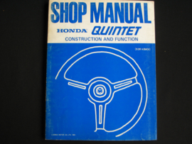 Workshop manual Honda Quintet Construction and Function (1981)