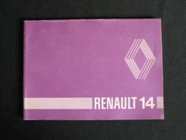 Instructieboek Renault 14
