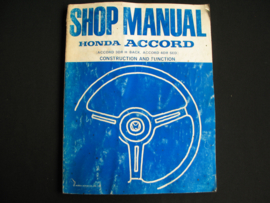 Workshop manual Honda Accord Construction and Function (1981)