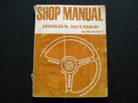 Werkplaatshandboek Honda Accord (1976) supplement