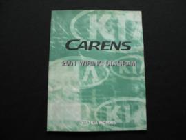 Werkplaatshandboek Kia Carens (2001) elektrische schema's