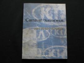 Werkplaatshandboek Kia Carnival/ Kia Sedona (2001) (Elektrische Schema`s)
