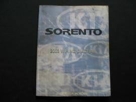 Werkplaatshandboek Kia Sorento (2003) (Elektrische schema`s)