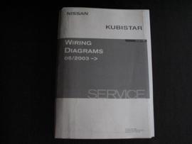 Werkplaatshandboek Nissan Kubistar (X76) (06/2003) elektrische schema's